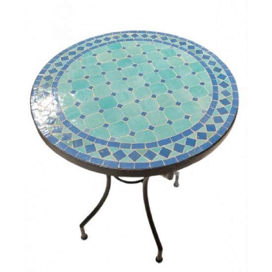 Mosaikbord turkos 80Ø