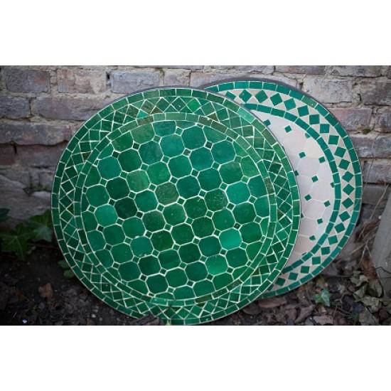 Mosaikbord grön 40Ø