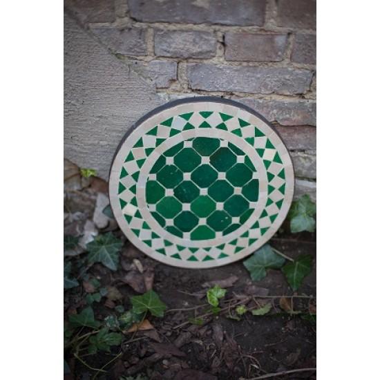 Mosaikbord beige/grön